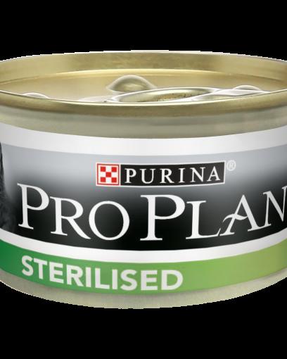Pro Plan для стерилизованных кошек и кастрированных котов, с тунцом и лососем, паштет