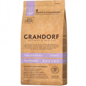 Сухой корм GRANDORF Индейка с рисом для собак мини пород от 1 года