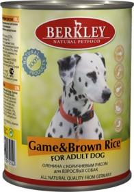 Беркли консервы для собак оленина с коричневым рисом 400 гр.