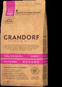 Сухой корм GRANDORF Индейка с рисом для собак всех пород от 1 года