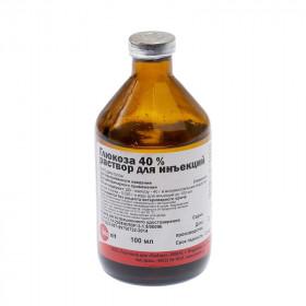 Глюкоза 40% раствор для инъекций, 100 мл
