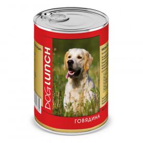 Dog Lunch консервированный корм для собак с говядиной в желе