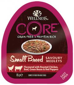 Wellness CORE SMALL BREED консервы из курицы с говядиной, зеленой фасолью и красным перцем для собак мелких пород 85 гр