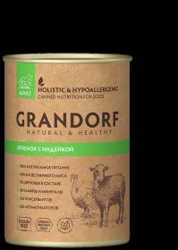 Влажный корм GRANDORF Ягненок с Индейкой для взрослых собак от 1 года, 400г