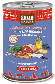 SOLID NATURA Holistic консервированный корм для щенков, с телятиной