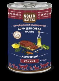 SOLID NATURA Holistic консервированный корм для собак, с кониной