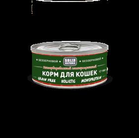 SOLID NATURA Holistic консервированный корм для кошек, с лососем, 100г