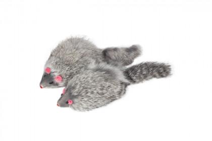 """TRIOL Игрушка для кошек """"Мышь серая"""", 90-100мм M004G"""