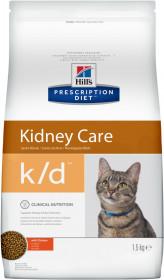 Hill's Prescription Diet K/D Kidney Care сухой корм для кошек профилактика заболеваний почек, с курицей