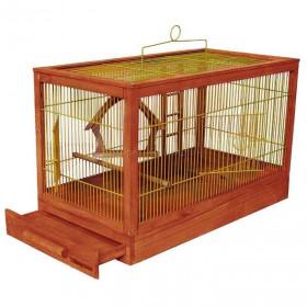 ДАРЭЛЛ Клетка для птиц Ретро - кантри большая, деревянная, цвет клен, 71х33,5х51