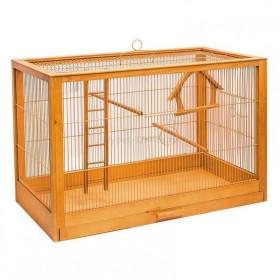 ДАРЭЛЛ Клетка для птиц Ретро - кантри средняя, деревянная, цвет клен, 56х30х35