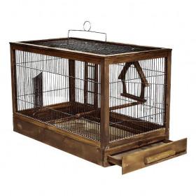 ДАРЭЛЛ Клетка для  птиц Ретро - кантри средняя, деревянная, цвет палисандр 56х30х35