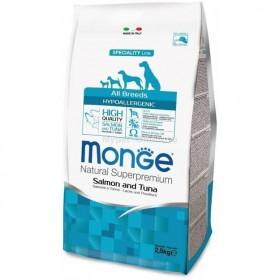 Monge Dog Speciality Hypo корм с лососем и тунцом для взрослых собак всех пород
