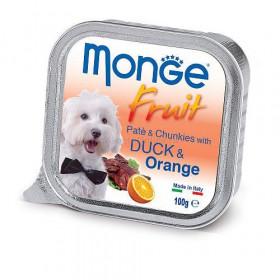 Monge Dog Fruit консервы для собак с уткой и апельсином