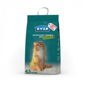 КУЗЯ наполнитель впитывающий для кошек, 4,5 л