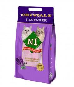 CRYSTAL №1 Lavender , наполнитель впитывающий силикагелевый ,лаванда, 5 л