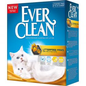 Ever Clean Litter Free Paws наполнитель для котят и длинношерстных кошек для идеально чистых лап, 10 л