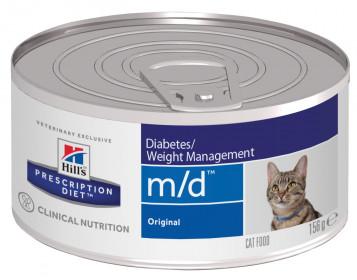 Hill's Prescription Diet M/D Diabetes влажный корм для кошек при сахарном диабете, 156г