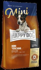 Happy Dog Mini Toscana сухой корм для собак мелких пород, гипоаллергенный, с уткой и лососем