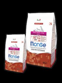 Monge Dog Speciality Extra Small корм для взрослых собак миниатюрных пород , с ягненком ,рисом и картофелем