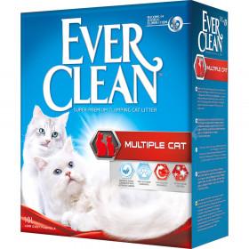 Ever Clean Multiple Cat наполнитель комкующийся для нескольких кошек, 10л