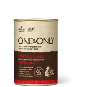 Влажный корм One&Only Консервы для собак Говядина в желе, 400 г