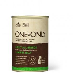 Влажный корм One&Only Консервы для собак Ягненок в желе, 400г