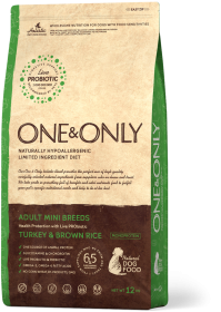 Сухой корм One&Only Индейка с рисом для взрослых собак мелких пород