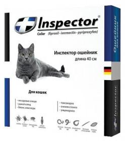 Inspector ошейник для кошек от блох, клещей и гельминтов, 40 см