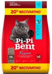 Pi-Pi Bent Classic наполнитель комкующийся, 10 кг+2 кг (крафт пакет)