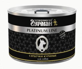 """Четвероногий гурман """"Platinum Line"""" влажный корм для собак сердечки куриные в желе, 6*500г"""