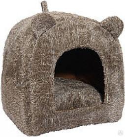 "Rosewood Домик ""Teady Bear"" с ушками, коричневый, размер 40х38х38см"