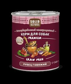 SOLID NATURA Premium консервированный корм для собак, рубец говяжий, 240г