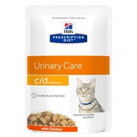 Hill's Prescription Diet C/D Multicare Urinary Care влажный корм (пауч) для кошек, профилактика МКБ, с курицей, 85г