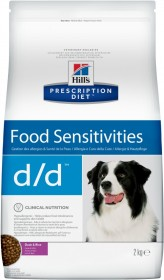 Hill's Prescription Diet D/D Food Sensitivities сухой корм для собак при аллергии на пищу и атопии кожи, утка с рисом