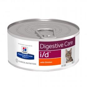 Hill's Prescription Diet I/D Digestive Care влажный корм для кошек при расстройстве пищеварения, с курицей, 156г