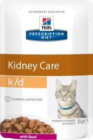 Hill's Prescription Diet K/D Kidney Care влажный корм (пауч) для кошек, хрон.болезнь почек, с говядиной, 85г