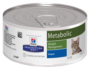 Hill's Prescription Diet Metabolic влажный корм для кошек, снижение и контроль веса, 156г