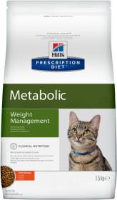 Hill's Prescription Diet Metabolic сухой корм для кошек, снижение и контроль веса, с курицей