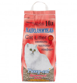 PUSSY CAT Наполнитель древесный, 10л