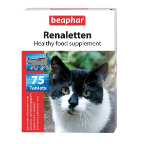 Beaphar Kitty's Renaletten Диетическое лакомство для кошек, 75 табл.