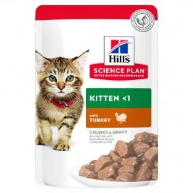Hill's Science Plan пауч для котят с индейкой в соусе, 85г