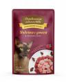 ДЕРЕВЕНСКИЕ ЛАКОМСТВА влажный корм для кошек с индейкой и уткой в нежном соусе, 85г