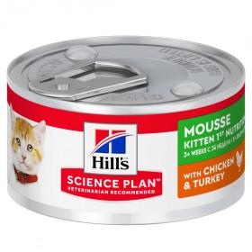 Hill's Science Plan мусс для котят с курицей и индейкой, 82г