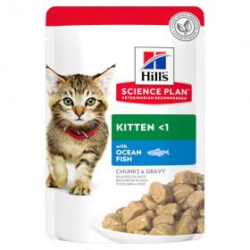 Hill's Science Plan пауч для котят с океанической рыбой в соусе, 85г