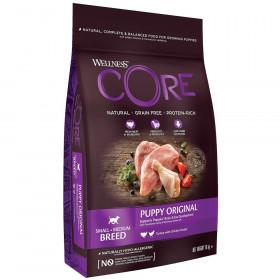 Wellness CORE сухой корм из индейки с курицей для щенков мелких и средних пород