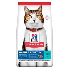 Hill's Science Plan сухой корм для кошек старше 7 лет, с тунцом