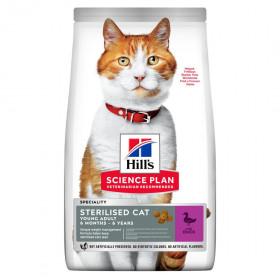 Hill's Science Plan сухой корм для стерилизованных кошек, с уткой