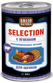 SOLID NATURA Selection консервированный корм для щенков, с ягненком, 970г
