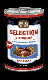 SOLID NATURA Selection консервированный корм для собак, с говядиной, 970г